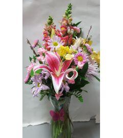 Pink Butterfly vase