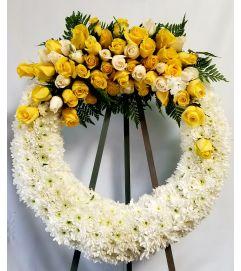 Beautiful Yellow Rose Wreath #2