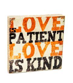 Love is Patient Block