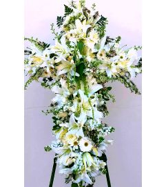 White Floral Cross #2