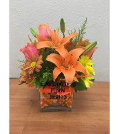 Candy Corn Floral Arrangement