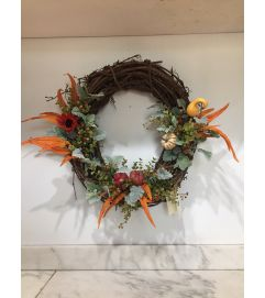Feathers and Gourds Wreath