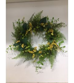 Yellow and Green Wreath