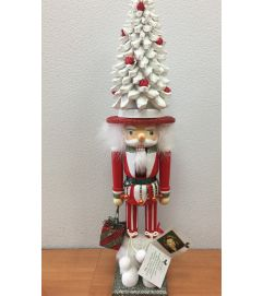 White Christmas Tree Hat Holiday Nutcracker