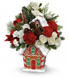 Teleflora Gingerbread Cookie Jar Bouquet