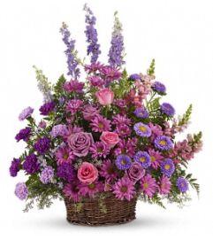 Gracious Lavender Basket - by Jennifer