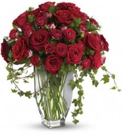 Rose Romanesque Bouquet - Red Roses - by Jennifer