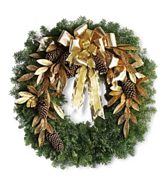 Gold and Glitter  Wreath