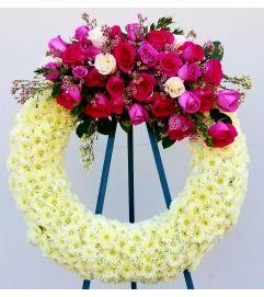 PInk Rose Garden Wreath