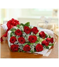SPECIAL! 45% OFF One Dozen Red Roses