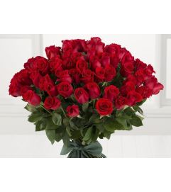 99  RED roses Wrapped