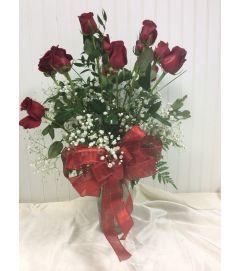 Showey Long stem Red Roses