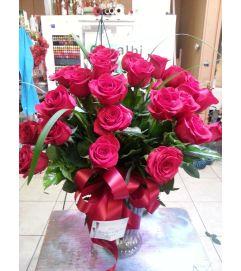 Two Dozen Pink Roses
