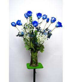 true blue roses