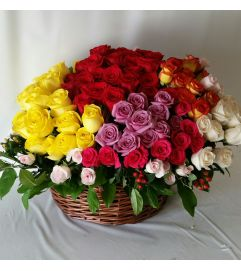 Beautiful Rose Basket