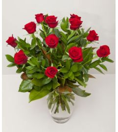 Red Roses for Her on Christmas Day