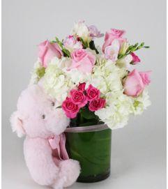 Little Pink Bear Arrangement