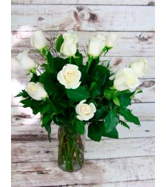 Simply White Roses
