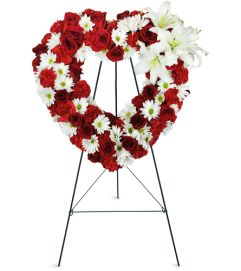 Rosy Remembrance Heart Wreath™