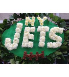 Funeral Custom NY Jets Sympathy Piece