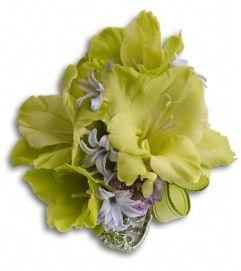 Soft Green Glamour Wristlet