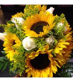 Sunflowers and Roses Bridal Bouquet