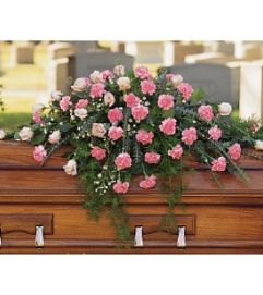 Respectful Pink Mixed Casket Cover