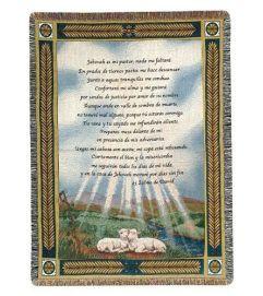 23 Psalm Afghan Throw Blanket
