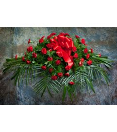 Carnation Casket Cover