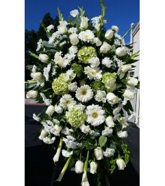 White Floral Standing Spray #2