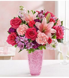Sweetheart Medley™ in a Pink Vase