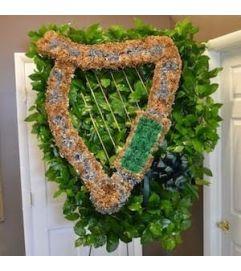 Funeral Custom Harp Sympathy Piece