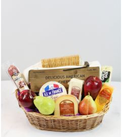 Gourmet Cheese Basket by Fruits & Flowers
