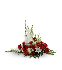 The FTD® Crimson & White™ Arrangement