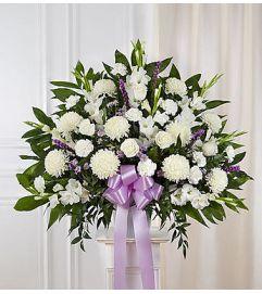 Heartfelt Sympathies™ Lavender Standing Basket