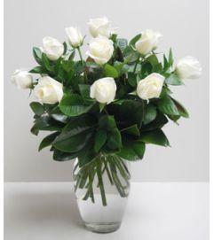 1 Dz.Elegant White Roses