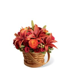 The FTD® Abundant Harvest™ Basket with Lilies