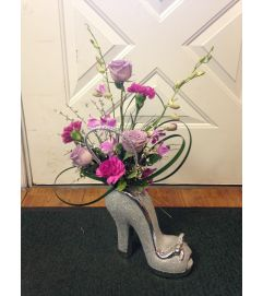 Glitter Shoe Bouquet
