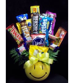 Smiley Sweet Candy Bouquet