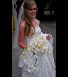 White orchid bridal bouquet