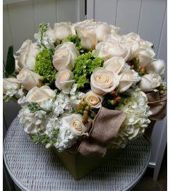 Perfect White Garden Bouquet