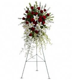 Roses and Lilies Standing Spray