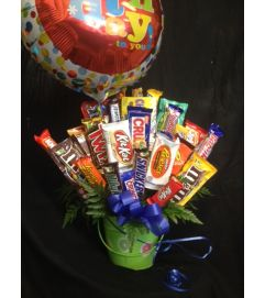 Candy Bouquet Balloon Bucket