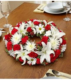 Red and White Centerpiece
