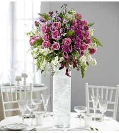 Purple Elegance Luxury Centerpiece
