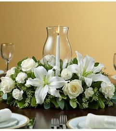 Holiday Cheer Centerpiece - White