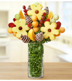 Personalized Vase with Fruit Arrangement - Ch