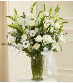 Beautiful Blessings Vase Arrangement - White