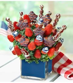 Stars and Stripes Fruit Arrangement