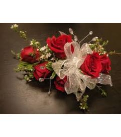red Rose Wristlet  Corsage pick up only